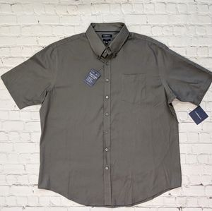 Croft & Barrow Easy Care Brown Woven Shirt